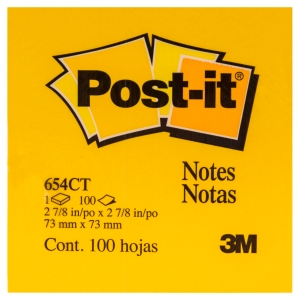 POST-IT NOTES 76 X 76MM YELLOW - PACK OF 12