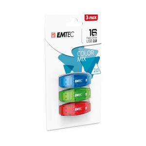 EMTEC C410 16GB 2.0 TRIPLE PACK - EACH