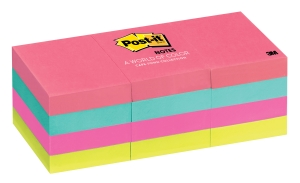 POST-IT NOTES 36 X 48MM CAPETOWN - PACK OF 12