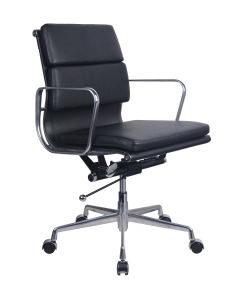 UPHOLSTERED PU LEATHER BOARDROOM CHAIR