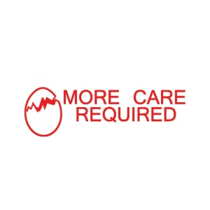 SHINY  MORE CARE REQUIRED  SELF INKING TEACHERS STAMP RED - EACH