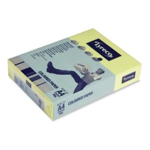 LYRECO PASTEL TINTED PAPER 80GSM A4 CANARY YELLOW - REAM OF 500 SHEETS
