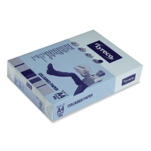 LYRECO PASTEL TINTED PAPER 80GSM A4 BLUE - REAM OF 500 SHEETS