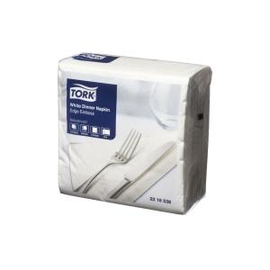 TORK DINNER NAPKINS SIZE 2PLY WHITE 100 SHEETS - PACK
