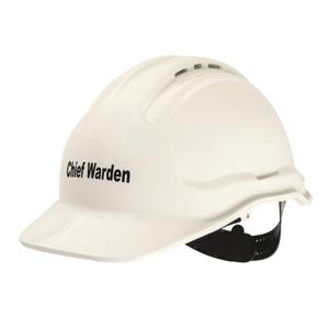 CHIEF FIRE WARDEN HARD HAT WHITE - EACH