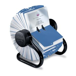 ROLODEX BUSINESS CARD ROTARY FILE  400-CARD CAPACITY - EACH