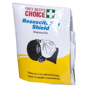 FIRST AIDERS CHOICE DISPOSABLE RESUSCITATION SHIELD - EACH