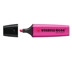 STABILO BOSS HIGHLIGHTER 2-5MM PINK - BOX OF 10
