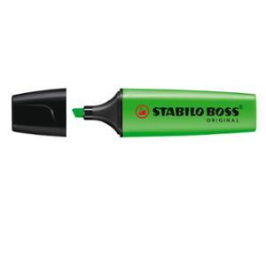 STABILO BOSS HIGHLIGHTER 2-5MM GREEN - BOX OF 10