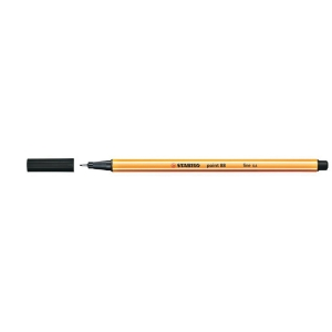 STABILO POINT 88 FELT TIP PEN 0.4MM BLACK - BOX OF 10
