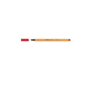 STABILO POINT 88 FELT TIP PEN 0.4MM RED - BOX OF 10