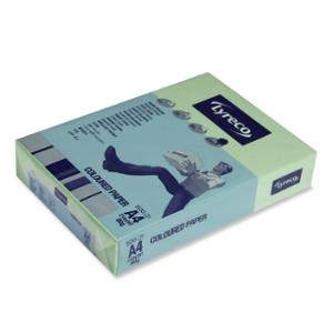 LYRECO BRIGHT TINTED PAPER 80GSM A4 JADE GREEN - REAM OF 500 SHEETS