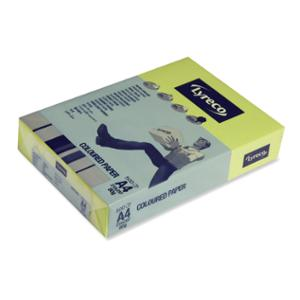 LYRECO BRIGHT TINTED PAPER 80GSM A4 DAFFODIL YELLOW - REAM OF 500 SHEETS