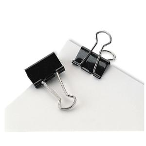 MARBIG FOLDBACK CLIPS 25MM BLACK - BOX OF 12