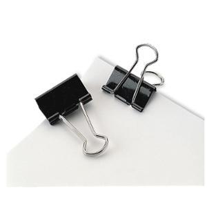 MARBIG FOLDBACK CLIPS 50MM BLACK - BOX OF 12