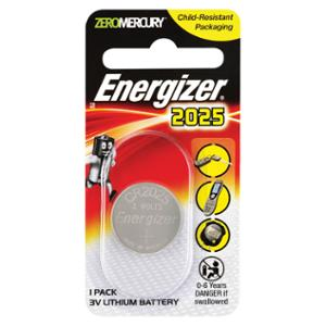 ENERGIZER LTIHIUM COIN CR2025 BATTERY - EACH