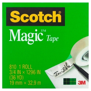 SCOTCH MAGIC TAPE 810 19MMX33M - EACH