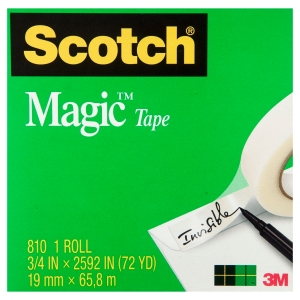 SCOTCH MAGIC TAPE 810 19MMX66M - EACH
