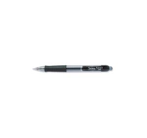 LYRECO PREMIUM RETRACTABLE GEL INK PENS 0.7MM BLACK - BOX OF 12