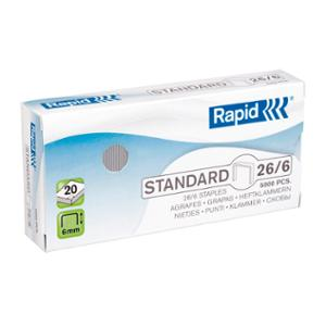 RAPID STAPLES 26/6MM - PACK OF 5000