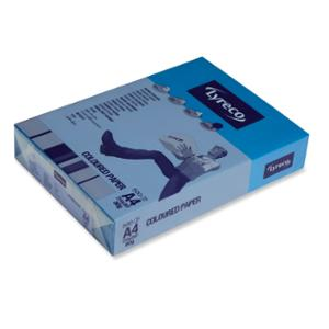 LYRECO INTENSE TINTED PAPER 80GSM A4 BLUE - REAM OF 500 SHEETS
