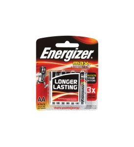 ENERGIZER MAX AA BATTERY - PACK OF 4