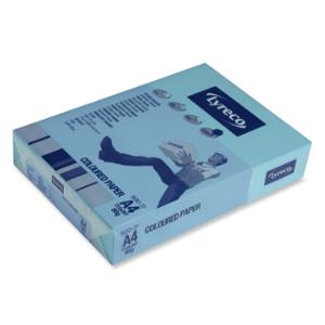 LYRECO BRIGHT TINTED PAPER 80GSM A4 DARK BLUE - REAM OF 500 SHEETS