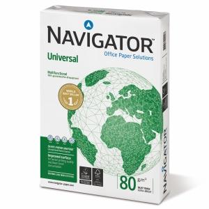 NAVIGATOR A4 UNIVERSAL PAPER 80GSM WHITE - BOX OF 5 REAMS