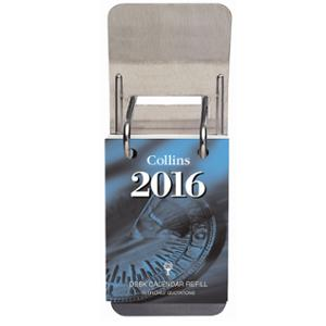 DESK CALENDAR STAND COLLINS TOP OPENING METAL