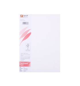 QUILL PARCHMENT PAPER 89GSM A4 WHITE - PACK OF 100 SHEETS