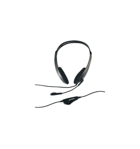 VERBATIM 41646 HEADSET WITH MICROPHONE BLACK - EACH