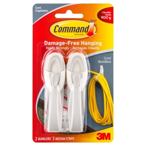 3M COMMAND CORD MANAGEMENT CORD BUNDLERS - PACK OF 2