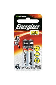 ENERGIZER ALKALINE E96/AAAA BATTERY 1.5V - PACK OF 2