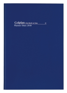 DIARY DEBDEN COLPLAN DESK PLANNER MONTH TO A VIEW A4 BLUE