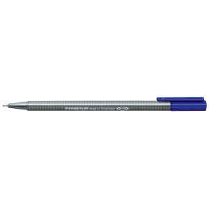 STAEDTLER 334 TRIPLUS FINELINER 0.3MM BLUE - BOX OF 10