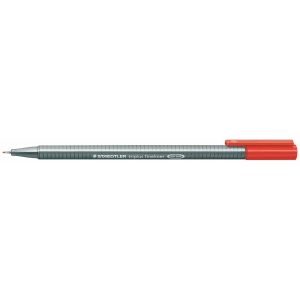 STAEDTLER 334 TRIPLUS FINELINER 0.3MM RED - BOX OF 10