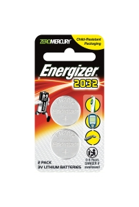 ENERGIZER LITHIUM COIN CR2032 BATTERY 3V - PACK OF 2