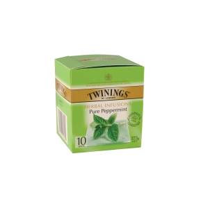 TWININGS PEPPERMINT TEA BAGS STRING & TAG - PACK OF 10