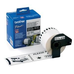 BROTHER QL LABEL CONTINUOUS - ROLL DK22205 62X30.5MM WHITE ROLL OF 30.5M