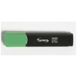 LYRECO HIGHLIGHTER 1-5MM GREEN - BOX OF 10