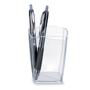 LYRECO PEN POT 74 X 74 X 95MM CRYSTAL - EACH