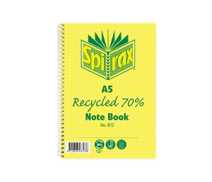 SPIRAX 70% RECYCLED NOTE BOOK A5 120 PAGE - EACH