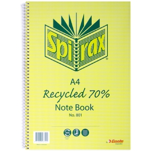 SPIRAX 70% RECYCLED NOTE BOOK A4 240 PAGE - EACH