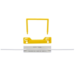 AVERY YELLOW TUBECLIP FILE FASTENER 3 PIECE SET, 100 PER PACK