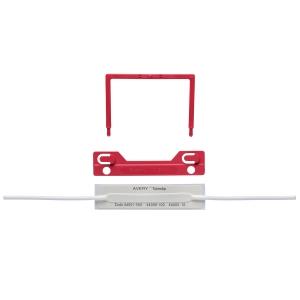 AVERY RED TUBECLIP FILE FASTENER 3 PIECE SET, 100 PER PACK