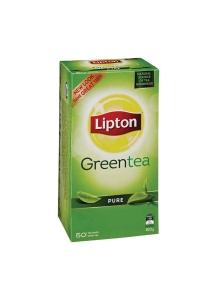 LIPTON GREEN TEA BAGS FOIL SEALED ENVELOPES - BOX OF 50