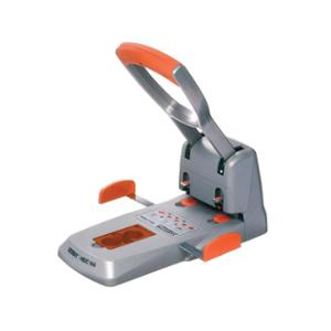 RAPID HEAVY DUTY HDC150 2-HOLE PUNCH 150 SHEET SILVER/ORANGE - EACH