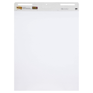 3M POST-IT SELF STICK WHITE EASEL PAD 635X775MM - PACK OF 4 PADS