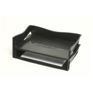 MARBIG ENVIRO 100% RECYCLED LANDSCAPE LETTER TRAY 402 X 245 X 70MM BLACK - EACH