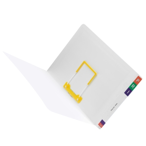 AVERY WHITE LATERAL NOTES FILE WITH FASTENER, 355X235MM, 100 FILES
